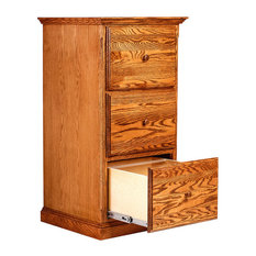 ... Designs Traditional Three Drawer File, Red Oak - Filing Cabinets