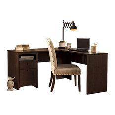 "Bush - Bush Buena Vista 60"" L-Shaped Desk in Madison Cherry - Desks"