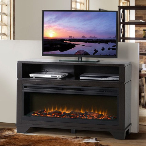 Flamelux nereto 48 in electric media fireplace zk1nereto contemporary entertainment - Contemporary electric fireplaces entertainment center ...