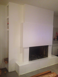 Phototh que 30 chemin es mettent le feu la d co - Comment habiller une cheminee ancienne ...