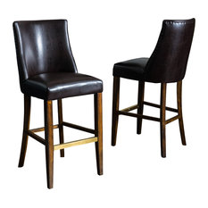 Contemporary Bar Stools And Counter Stools With Nailhead