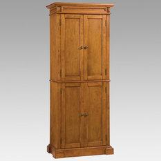 Oak Finish Pantry Cabinet - 5004-69 - Rich multi-step Cottage Oak ...