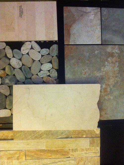 Bathroom Design Ideas Renovations Photos With A Corner Tub And Slate Floors
