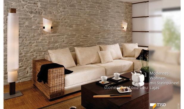 steinwand wohnzimmer styropor mediterrane wandgestaltung innenarchitektur ideen - Mediterrane Wandgestaltung
