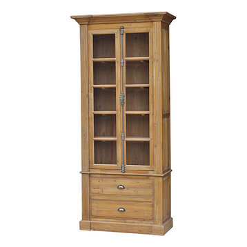 Reclaimed Wood Single Bookcase - Combining a tall, slim curio cabinet ...