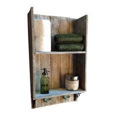 Rustic Bathroom Storage | Houzz