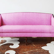 Federal Antique Sofa, Hable Construction Magenta Beads Fabric