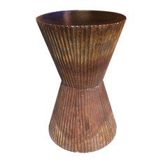 Asian Art Imports Asian Art Imports Chiseled Taper Stool