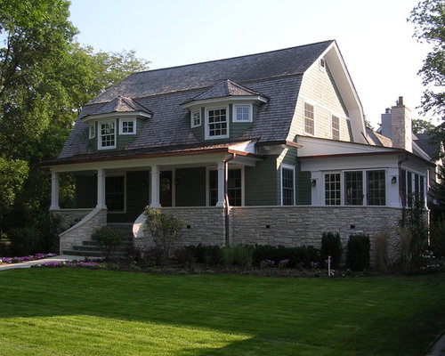Colonial front porch home design ideas pictures remodel for Colonial home plans with porches