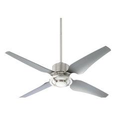 quorum international quorum axel modern 4 blade indoor ceiling fan nickel with light 82524 ceiling avant garde