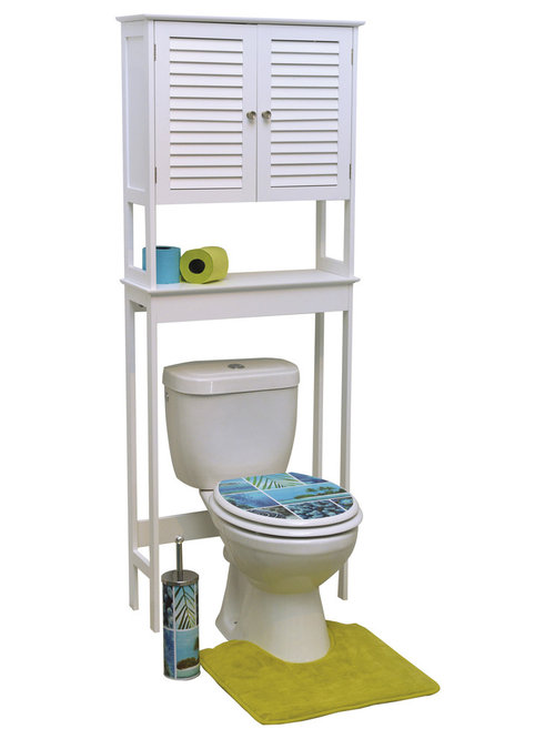 Over The Toilet Cabinets White Bathroom Cabinets and Shelves | Houzz