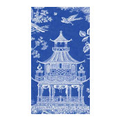 Blue Chinoiserie Toile Pagoda Paper Guest Towels