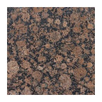 Brown Imperial Polished Granite Traditional Kitchen