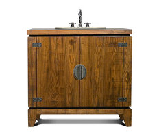 Rustic bathroom vanities houzz for J tribble bathroom vanities