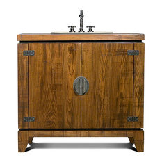 Rustic bathroom vanities with a distressed finish houzz for J tribble bathroom vanities