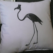 The Debonair Flamingo Pillow Cover by Chateau Three Fork