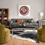 Otis Swivel Chair Contemporary Armchairs And Accent