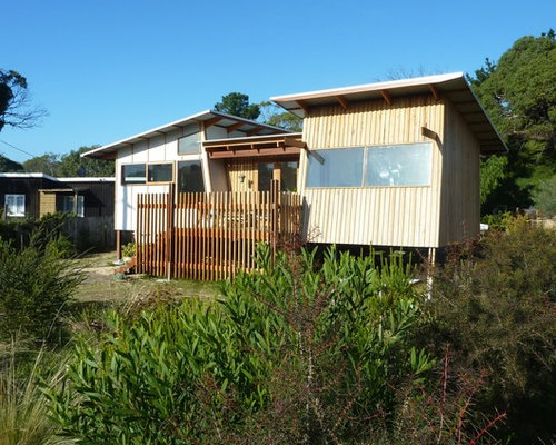 Beach style hobart exterior design ideas remodels photos for Beach house designs tasmania