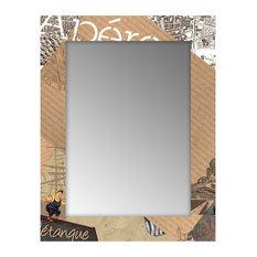 Miroir contemporain 15x30 for Miroir mural 40x140