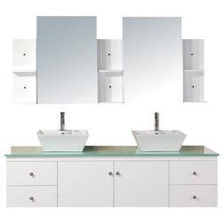 Elise Single Bathroom Vanity Cabinet Set Gray 36