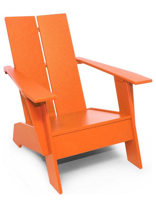 orange adirondack chairs houzz