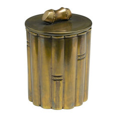 Orchard Creek Designs Brass Bamboo Design Box With Lid Storage