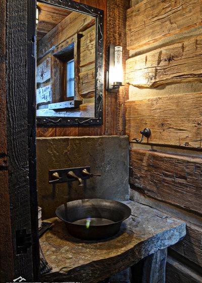 Bagni rustici: foto di arredamento