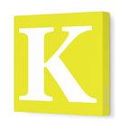 Letter - Upper Case  K  Yellow Letter P