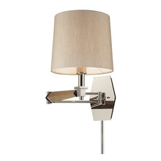 Elk Lighting Jorgenson Swingarm Lamp, Polished Nickel