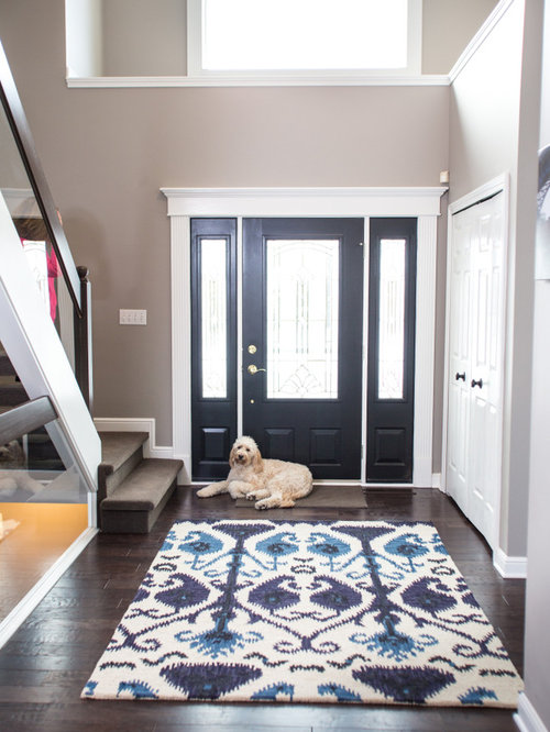 Transitional cleveland entryway design ideas remodels for Transitional foyer ideas