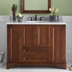 British colonial style bathroom vanities houzz for Colonial style bathroom vanities
