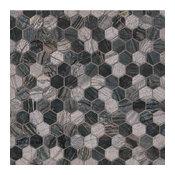 "12""x12"" Henley Hexagon Multi Finish Mosaic, Set of 10"