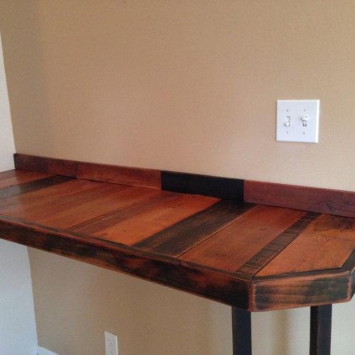 Reclaimed pallet wood breakfast bar for Reclaimed wood furniture bend oregon