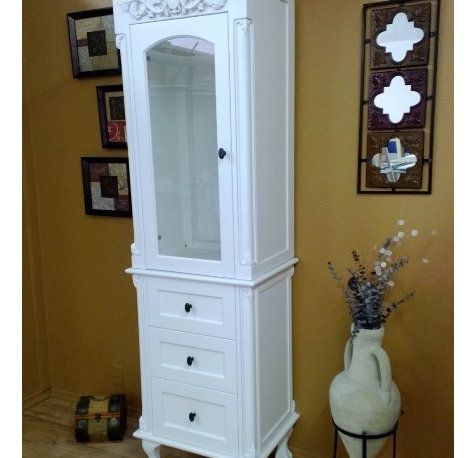 Style Mt. Vernon Linen Tower and Base is sure to enhance any bathroom ...