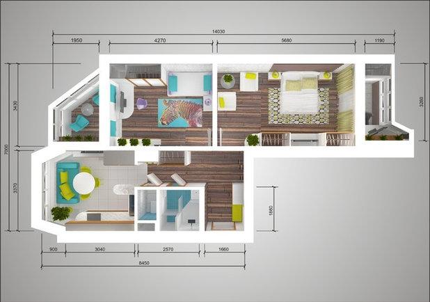 Дизайн двухкомнатной квартиры п44т распашонка