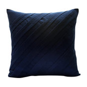 "Contemporary Navy, 26""x26"" Faux Suede Navy Blue Euro Pillow Shams"