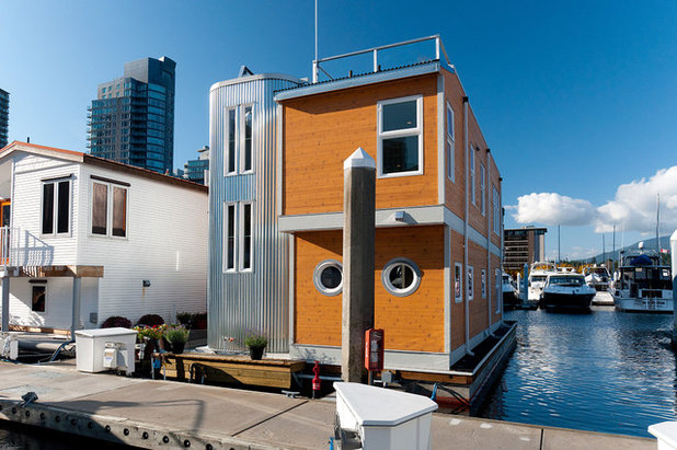 Houzz tour modern houseboat in vancouver b c for Modern home design vancouver bc