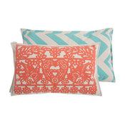 Thomas Paul Banner Coral Cotton Pillow