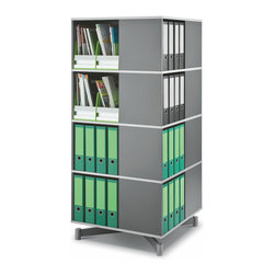 Storage Carousel - Four Tier in Graphite Wood - Perfect for the corner ...