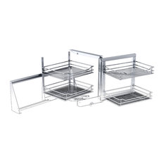 ... Corner 1 Right Set W31-1/2, Chrome - Pantry And Cabinet Organizers