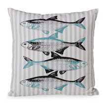 alin a fish tex coussin motif poisson air marin un. Black Bedroom Furniture Sets. Home Design Ideas