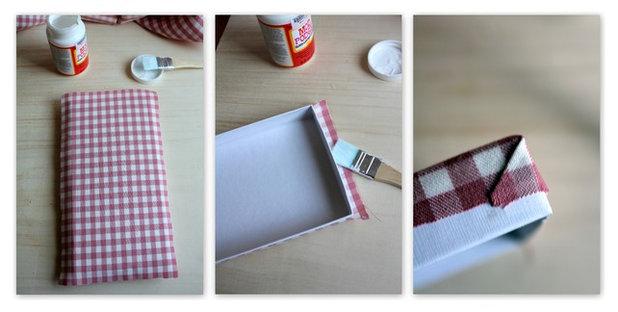 Fai da te scatole rivestite di stoffa for Scatole rivestite in stoffa tutorial