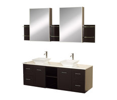 Double Vanity And Add A Twist Of The Transitional To An Otherwise