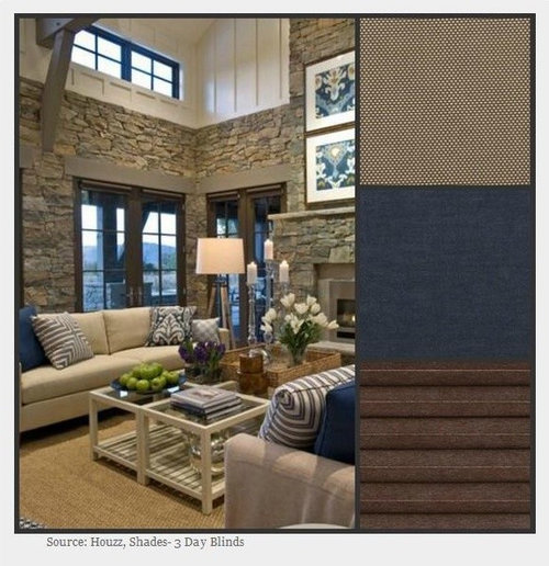 navy blue roman shade home design ideas pictures remodel and decor. Black Bedroom Furniture Sets. Home Design Ideas