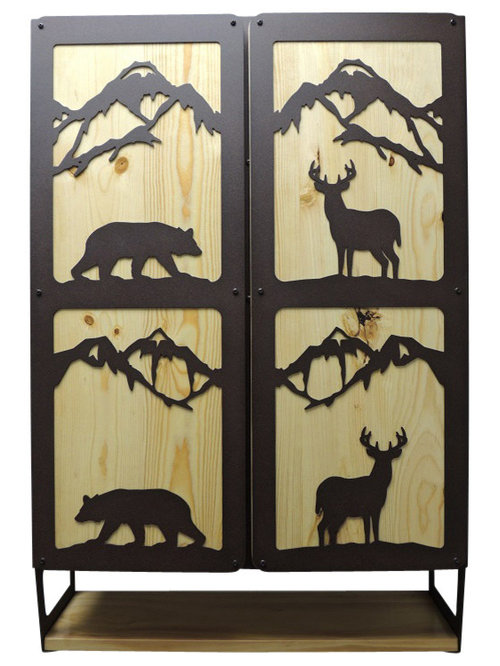 ... cabinet. Bear & Deer Bathroom Cabinet can be used as a toilet topper