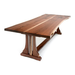 Shop denver 108 inch trestle table dining products on houzz for 108 inch dining table