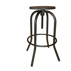 Industrial swivel bar stools and counter stools houzz - Screw top bar stools ...