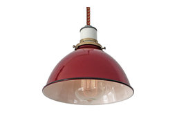 The Sullivan Industrial Lamp, Cord: Red/Putty, Pendant, With Plug