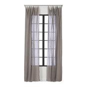 French-Belgian Light Gray Linen Panel