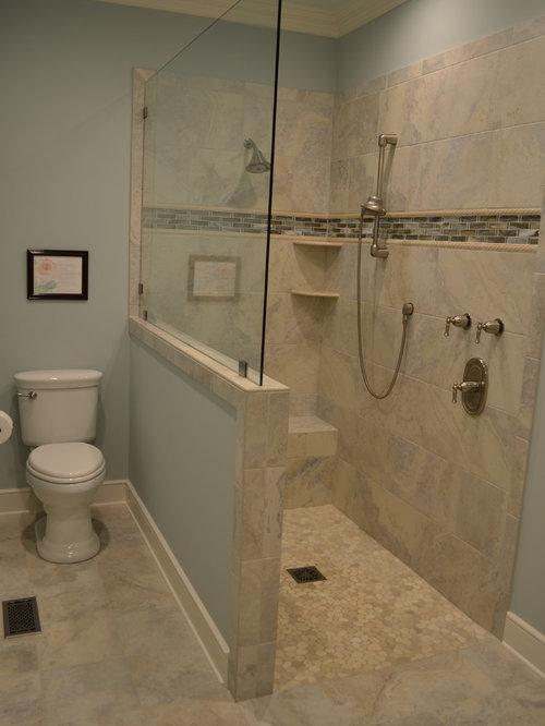 salles de bains et wc campagne avec une douche l 39 italienne photos et id es d co de salles de. Black Bedroom Furniture Sets. Home Design Ideas
